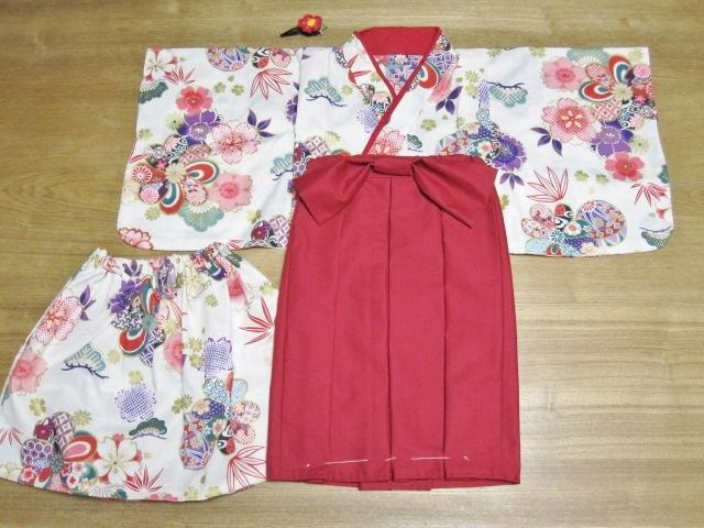 maiw1103様オーダー品100cm着物&袴風ロングスカート髪飾り