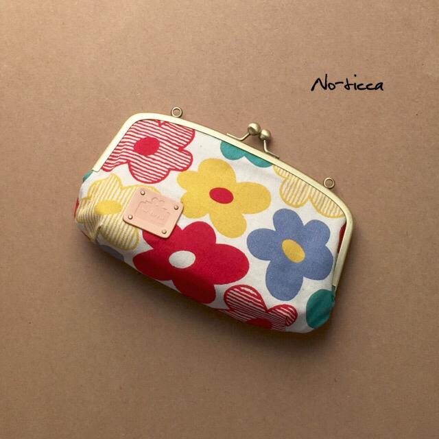 2WAY☆北欧調レトロ花柄お財布バッグ