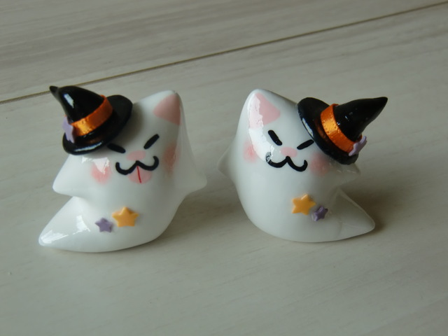 送料無料♪ ハロウィン♪おばけネコセット♪
