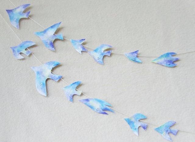 水晶と鳥のガーランド2