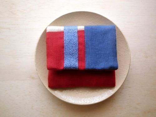 itoiro mini purse pouch (red&blue)