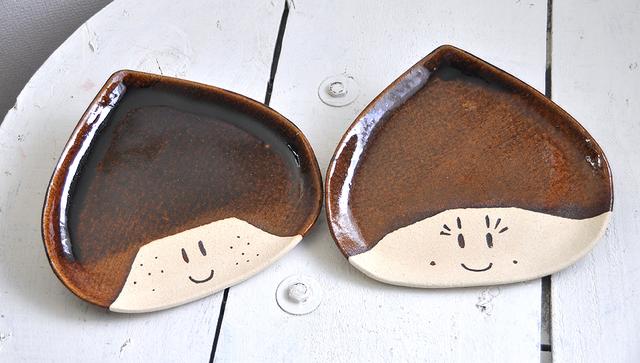 大きい栗の兄妹(大皿)