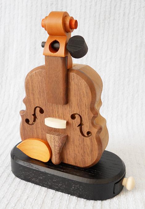 バイオリン型飛び出す印鑑入れ