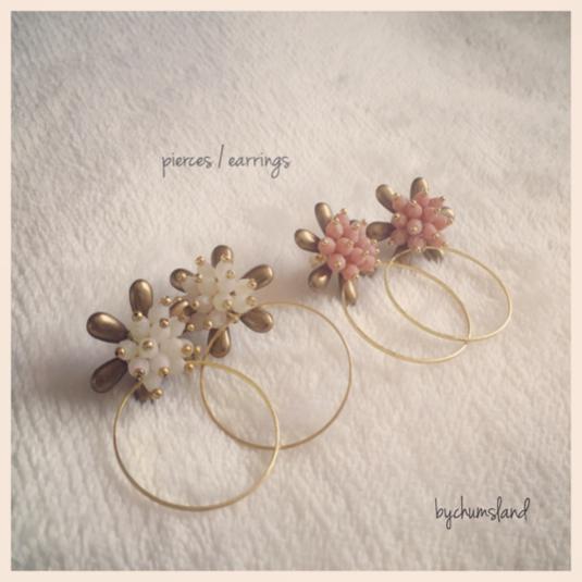 antique flower / ピアス イヤリング