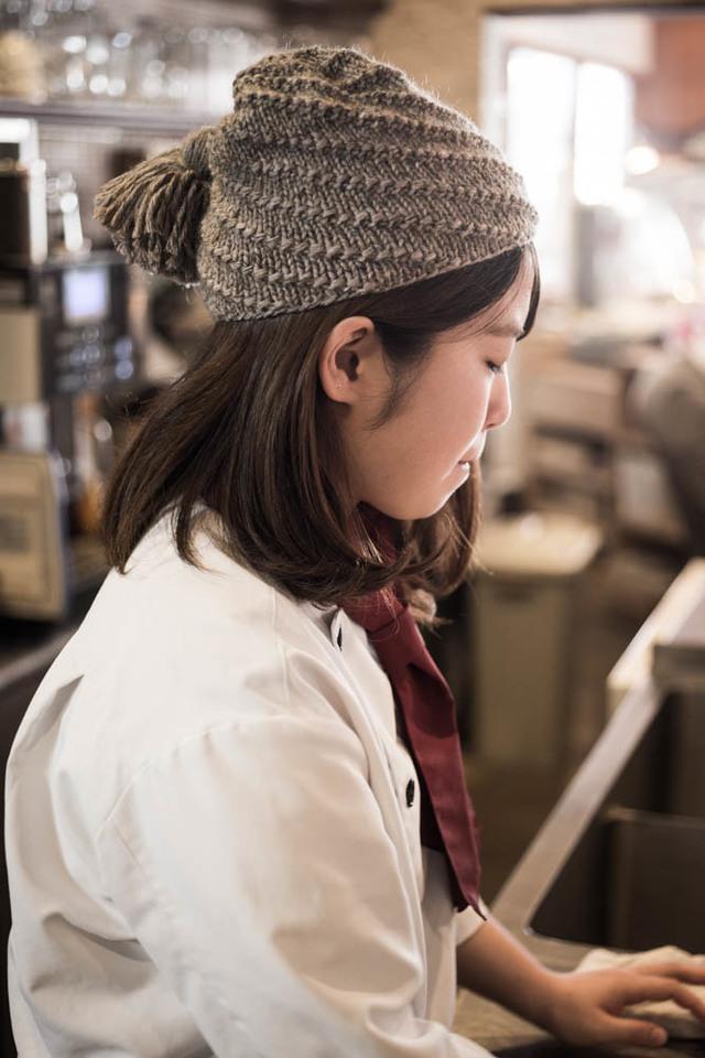 渦巻き帽子(タッセル タン)
