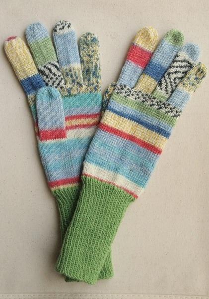 手編み5本指手袋 No.28【再販】