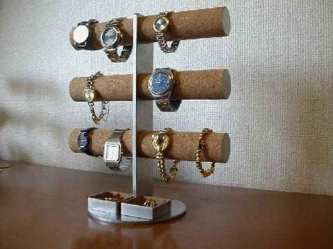 プレゼントに!12本掛け腕時計タワースタンド角トレイバージョン