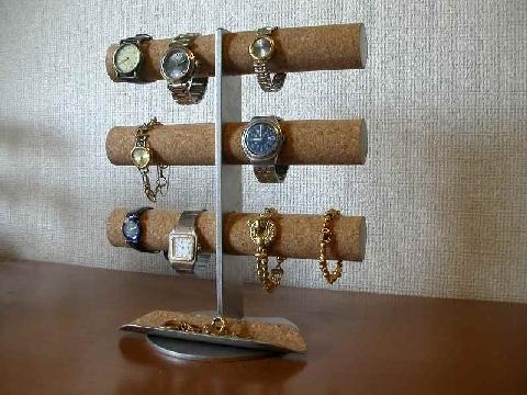 お祝いに!12本掛け腕時計タワースタンド ロングトレイバージョン