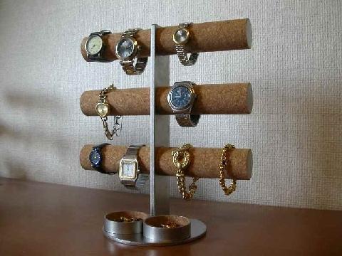 贈り物に!12本掛け腕時計タワースタンド丸トレイバージョン