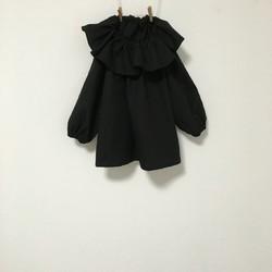 衿フリルブラックスモック サイズ90