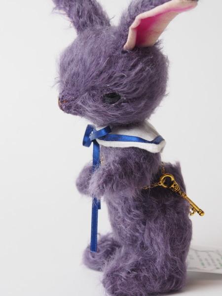 16cm鍵うさぎ(紫)