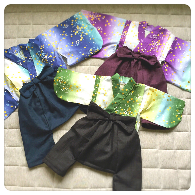 b9d7b3393c826 ベビー着物と袴風パンツと甚平90-100cm