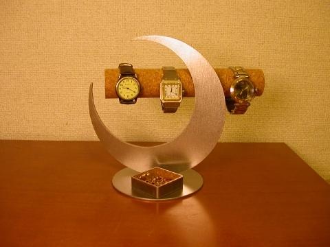 プレゼントに!三日月ムーン腕時計スタンド 角トレイバージョン ak-design