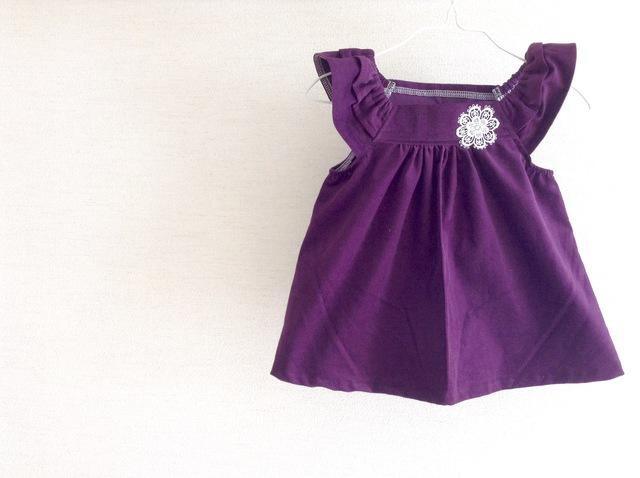コーデュロイブラウス 紫 100