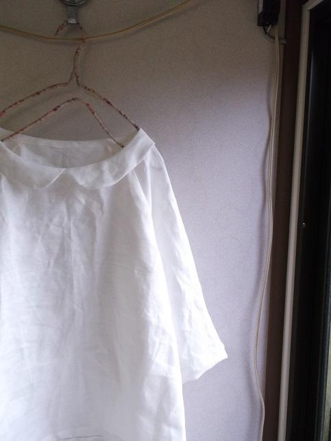 リネンラグラン丸襟プルオーバー