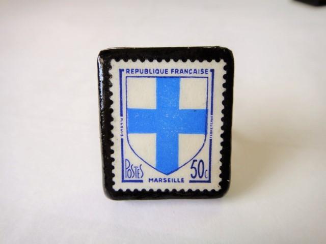 フランス  切手リング1430
