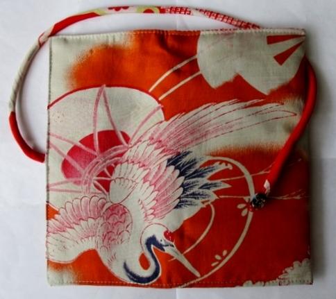 着物リメイク 羽織の裏地で作った和風財布 1777
