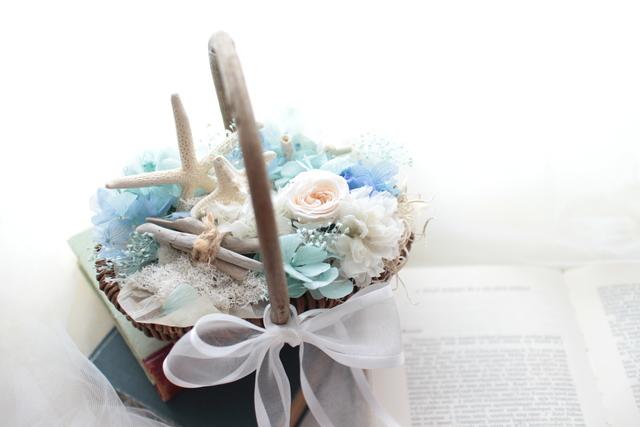 flower basket #103 [フラワーギフト・リングピローなどに・・]