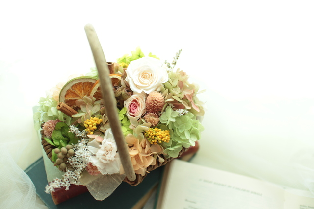 flower basket #104 [フラワーギフト・リングピローなどに・・]