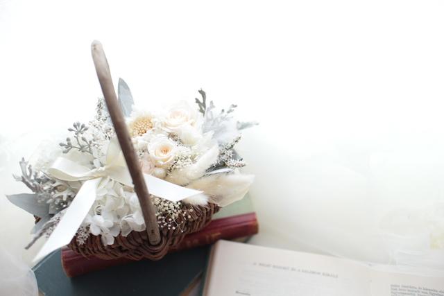 flower basket #105 [フラワーギフト・リングピローなどに・・]