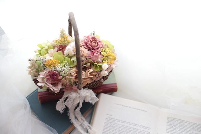 flower basket #106 [フラワーギフト・リングピローなどに・・]