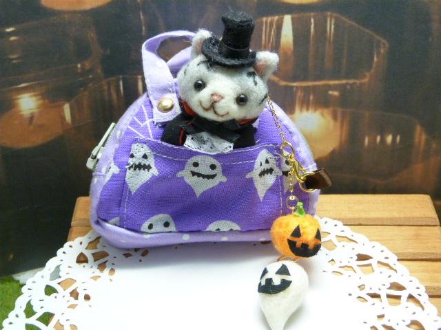 ハロウィンを楽しくするミニスポーツバック★ヴァンパイア猫ちゃん