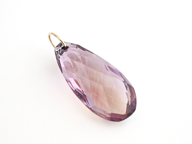 K10 Ametrine Checkercut Charm