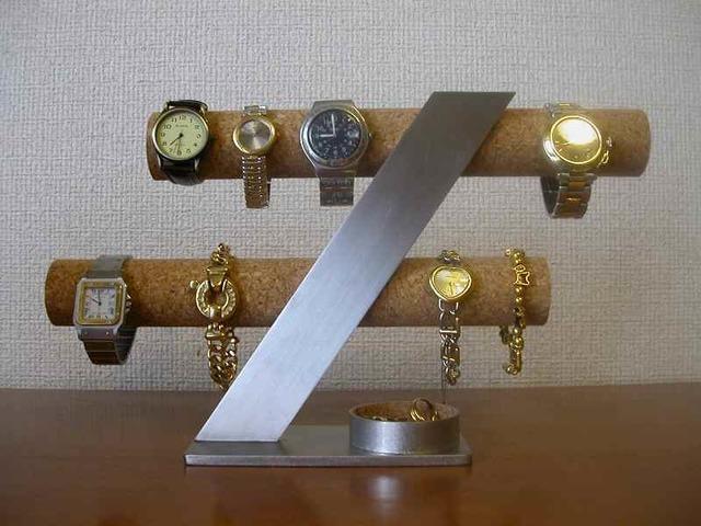 結婚祝いに!6〜8本掛け腕時計スタンド 丸いトレイバージョン