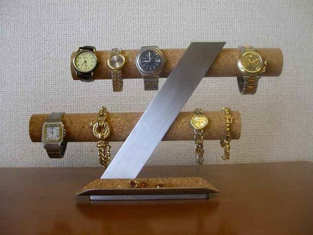 インテリアに!スタンダード8本掛け腕時計スタンド ロングトレイ
