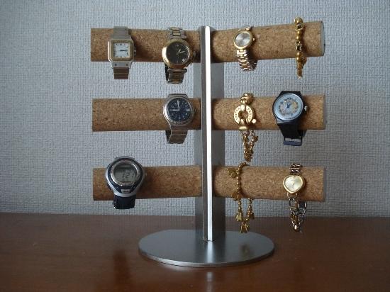 誕生日プレゼントに! 12本掛け角度付き腕時計スタンド スタンダード