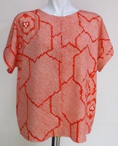 着物リメイク 絞りの羽織で作ったTシャツ 1780