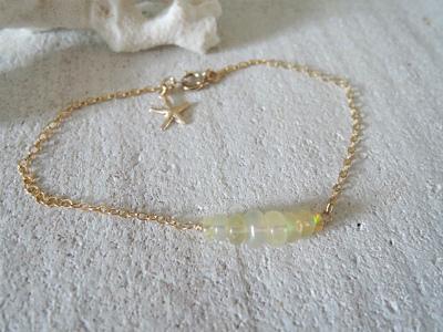 Opal with starfish bracelet   14kgf