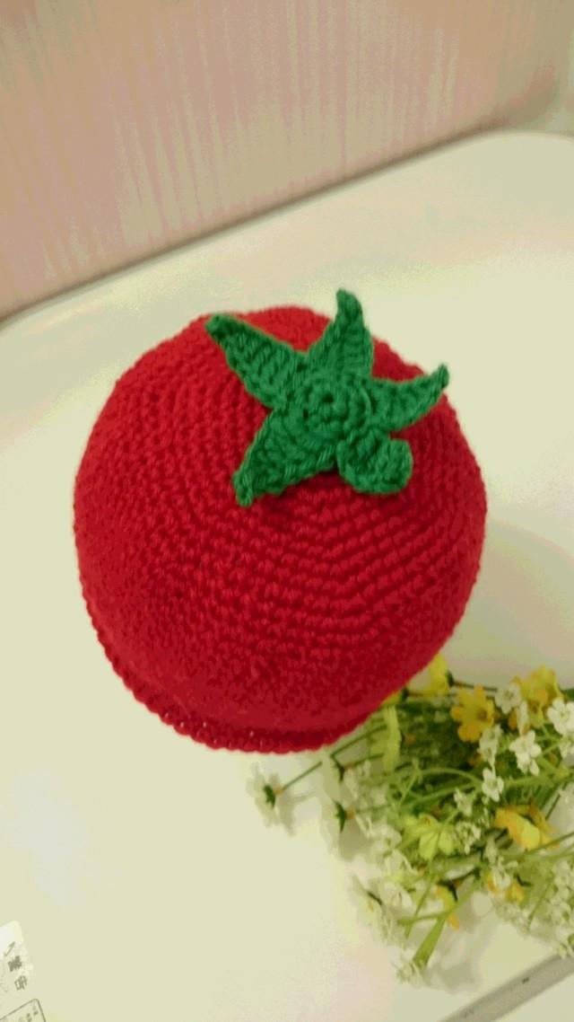被り物感覚で♪ ころころトマトなニット帽子40~48