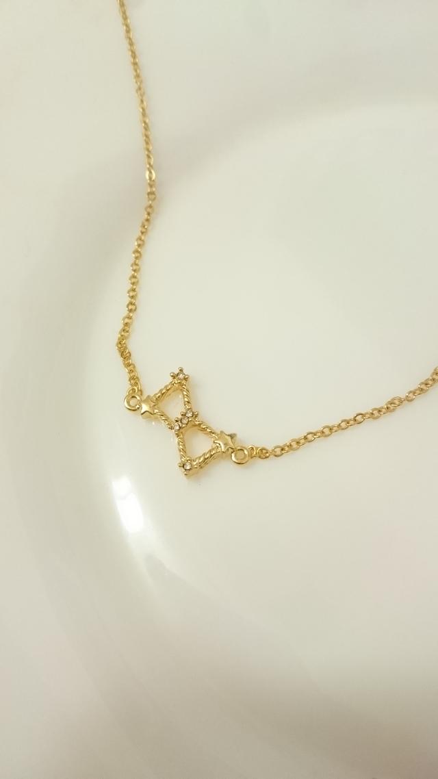 オリオン座のゴールドネックレス
