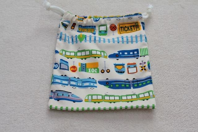 小さい巾着(電車)