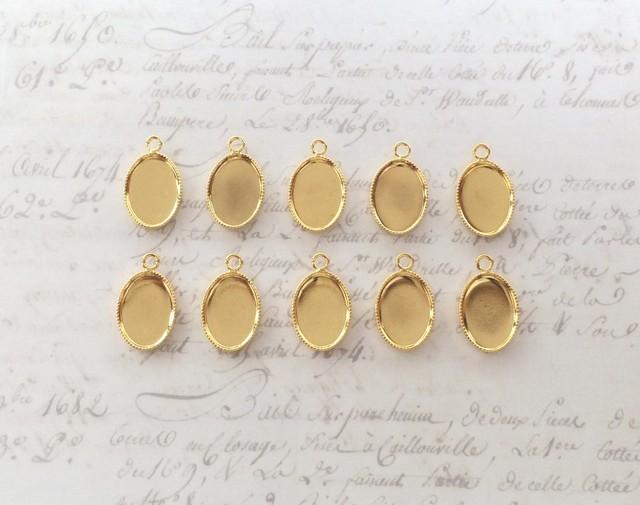 ミール皿 楕円形10個 ≪ゴールド≫