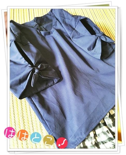 親子お揃い袖リボンシャツ【M】