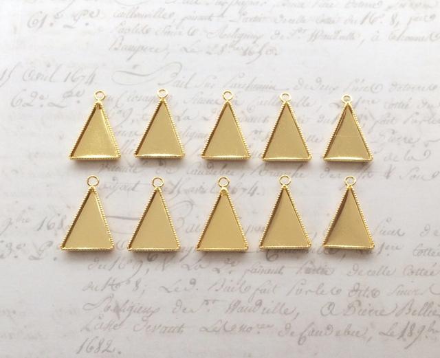 ミール皿 三角形10個 ≪ゴールド≫