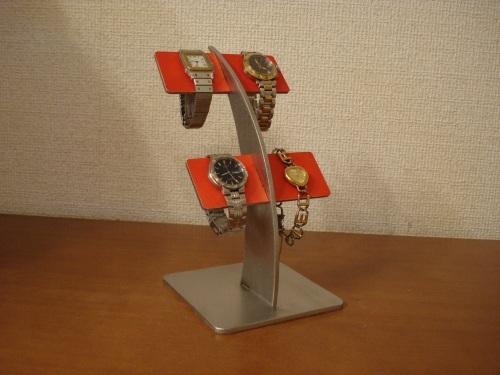 反り返るレッド4本掛け腕時計スタンド