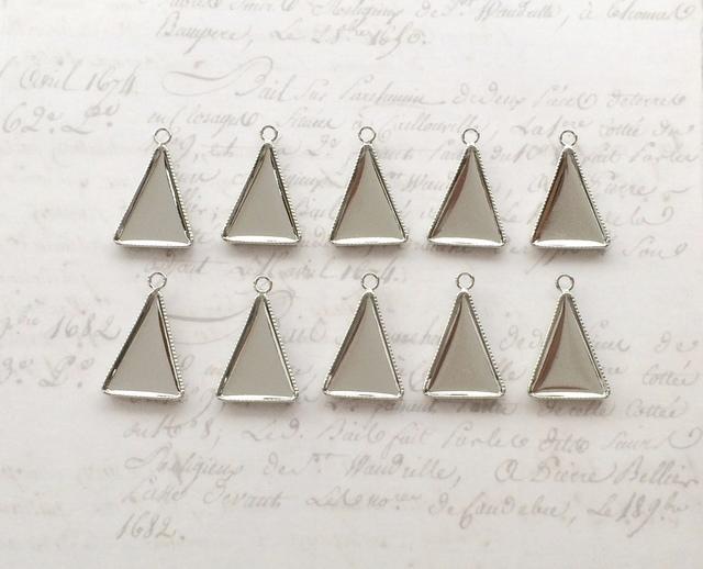 ミール皿 三角形10個 ≪シルバー≫