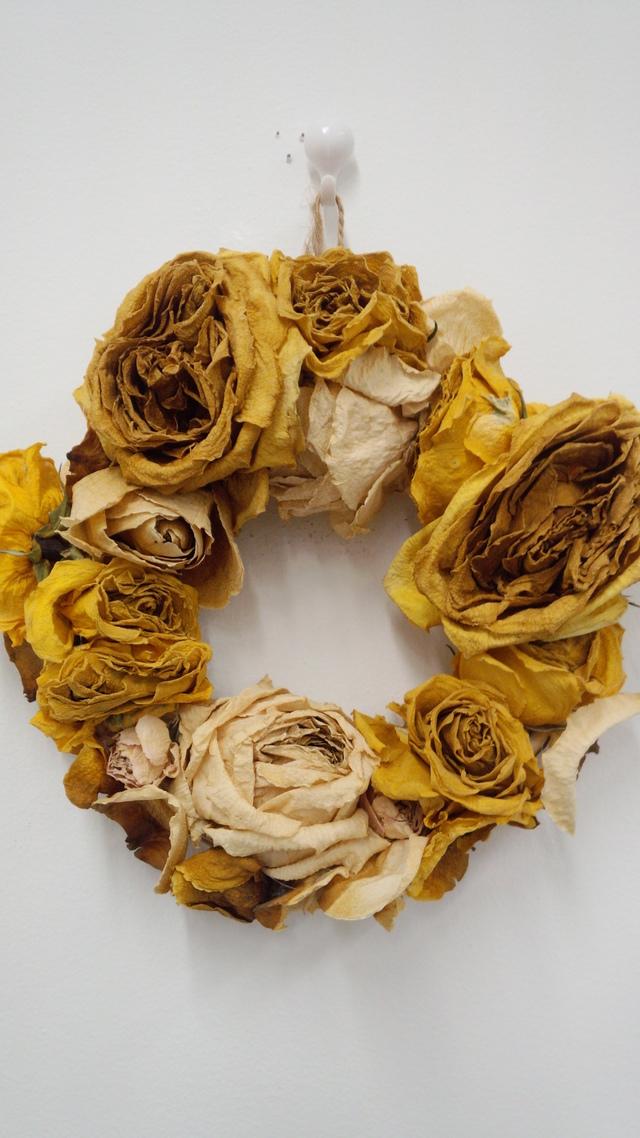 黄色いバラだけリース!