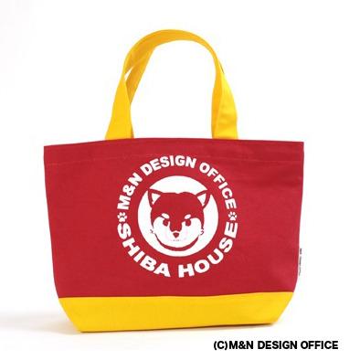 柴犬イラストバッグ/SHIBA HOUSE(カラー赤)