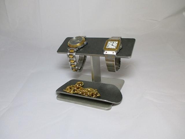 新作!腕時計スタンド バー2本掛けロングトレイブラック時計スタンド ak-design