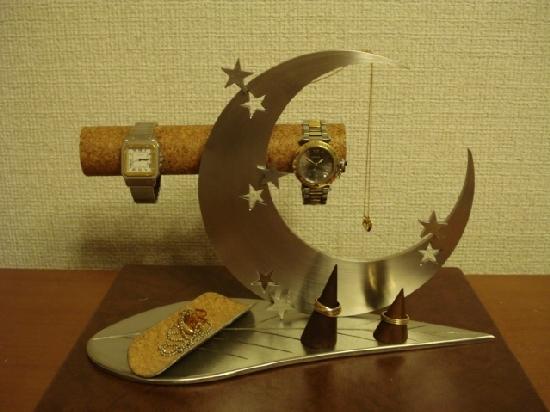 プレゼントに!\t アクセサリースタンド リーフ三日月腕時計、ネックレス、リングスタンドトレイ