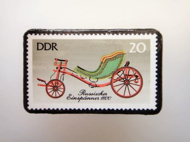 東ドイツ  切手ブローチ1446