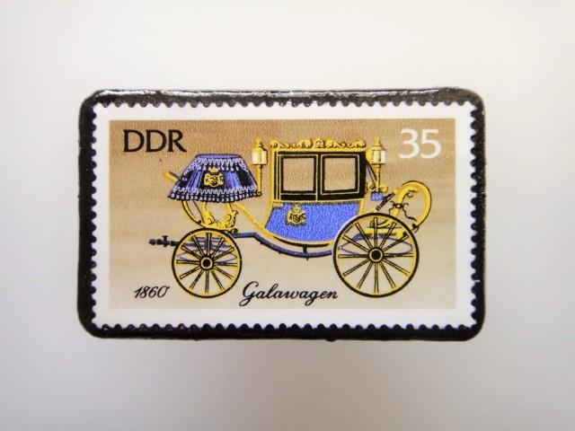 東ドイツ  切手ブローチ1447