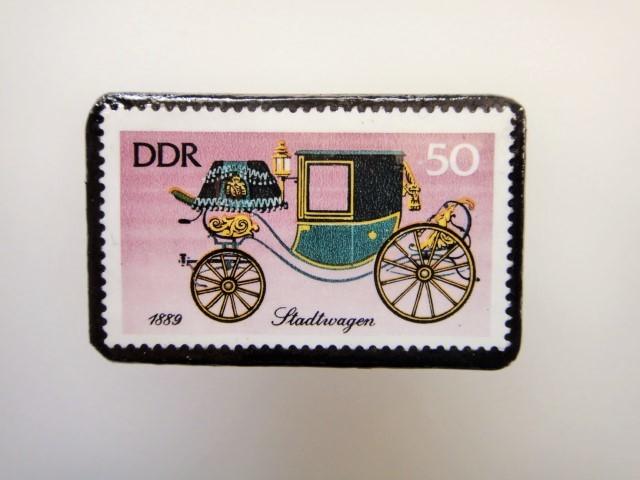 東ドイツ  切手ブローチ1450