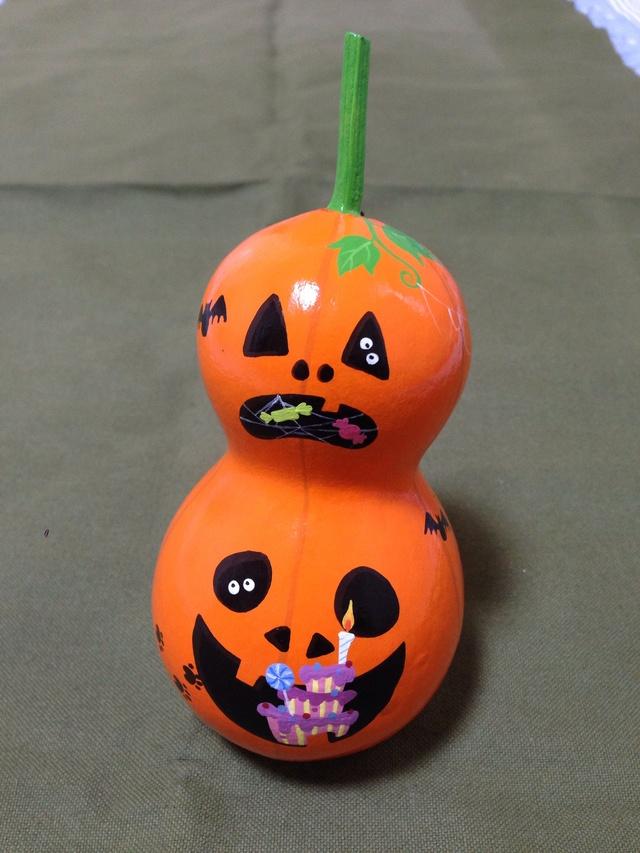 ひょうたんハロウィン オレンジ