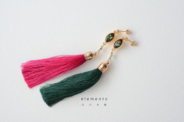 elements(ピアス/イヤリング:レジンアクセサリー)