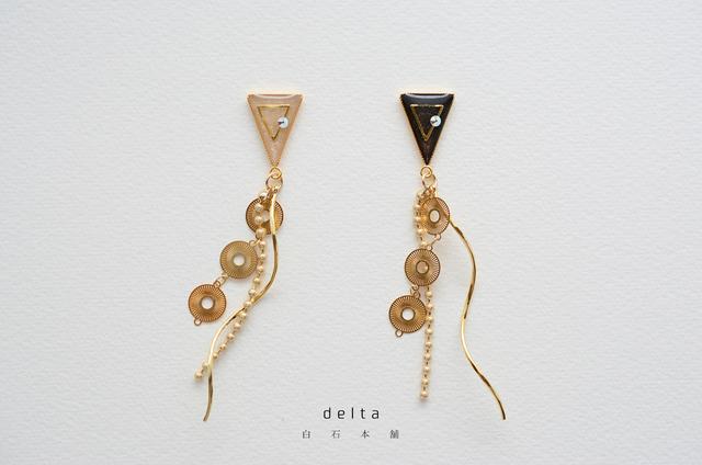 delta(イヤリング/レジンアクセサリー)